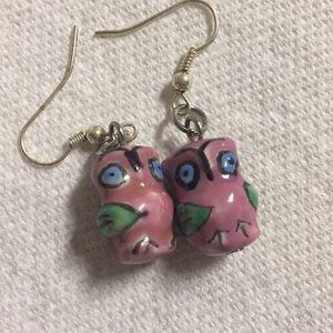 Ceramic Owl Pierced earrings
